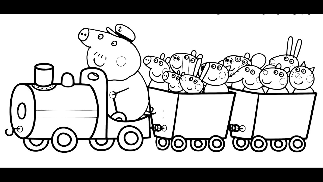 Peppa Pig Train Coloring Pages destiné Peppa Pig A Colorier
