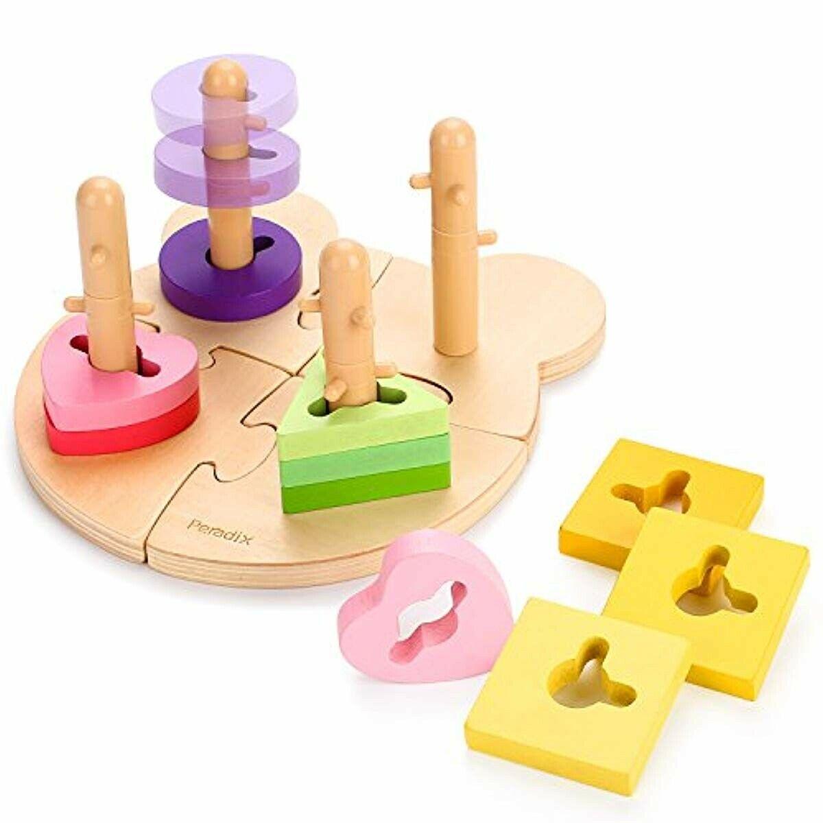 Peradix Puzzle En Bois Montessori Jeu De Puzzle Forme serapportantà Jeu De Forme Géométrique