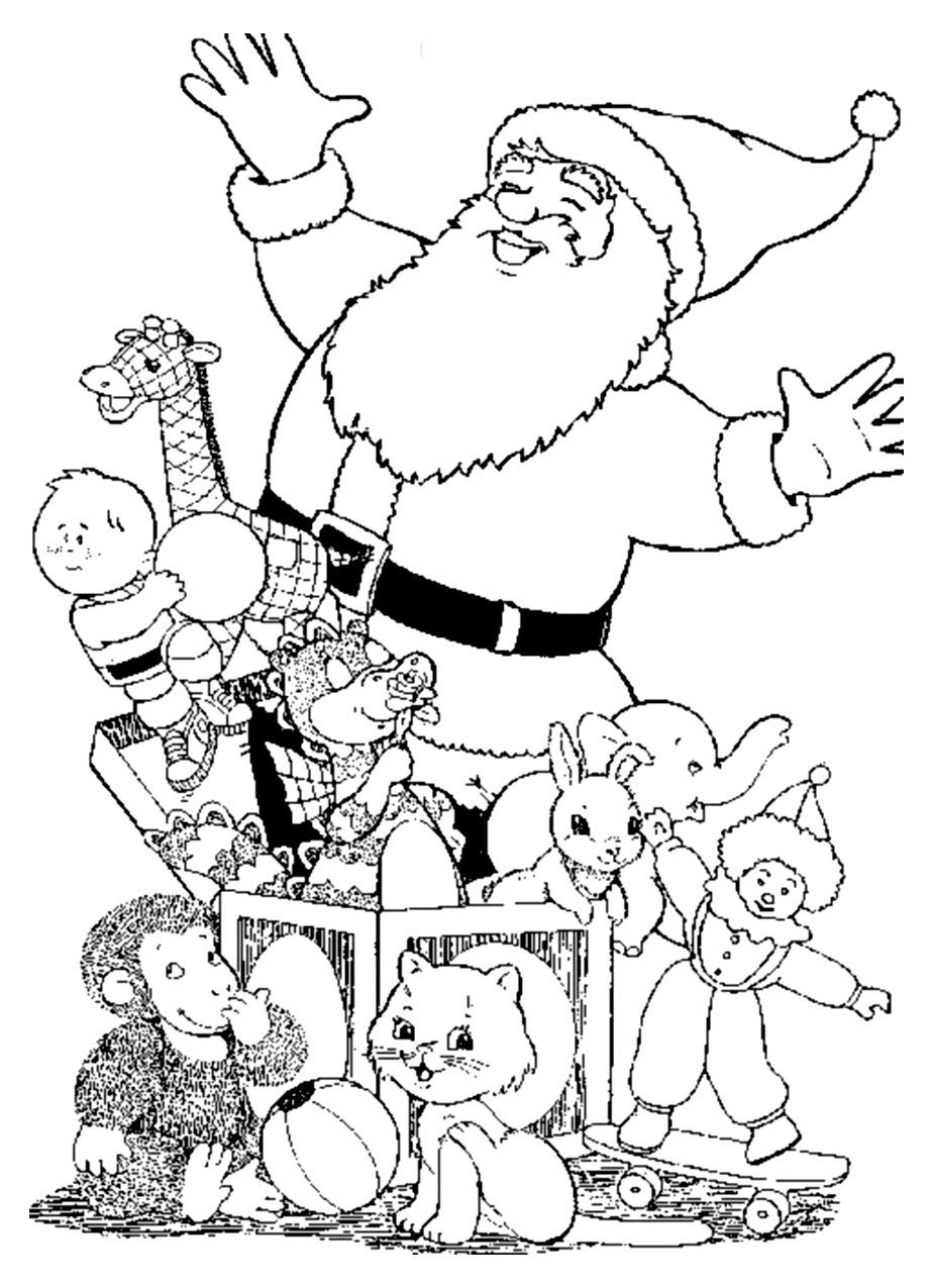 Pere Noel Cadeaux - Coloriage Père Noël - Coloriages Pour pour Coloriage Pere Noel À Imprimer Gratuit