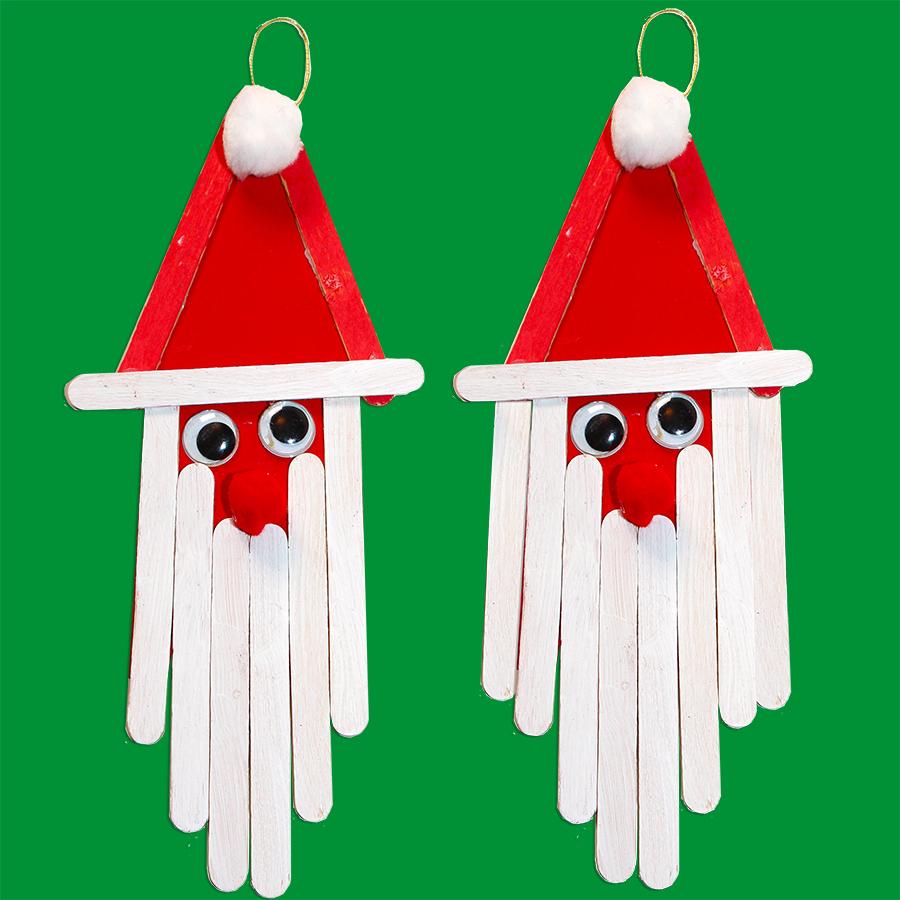 Père Noël En Bâtons De Bois - Père Noël destiné Fabrication De Pere Noel