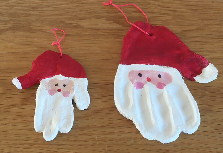 Père Noël En Pâte À Sel [Video] destiné Fabrication De Pere Noel