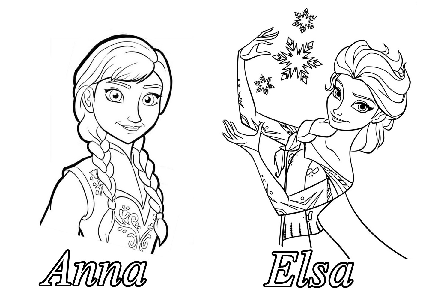 Personnages-Celebres-Walt-Disney-La-Reine-Des-Neiges-671617 pour Dessin Walt Disney À Imprimer
