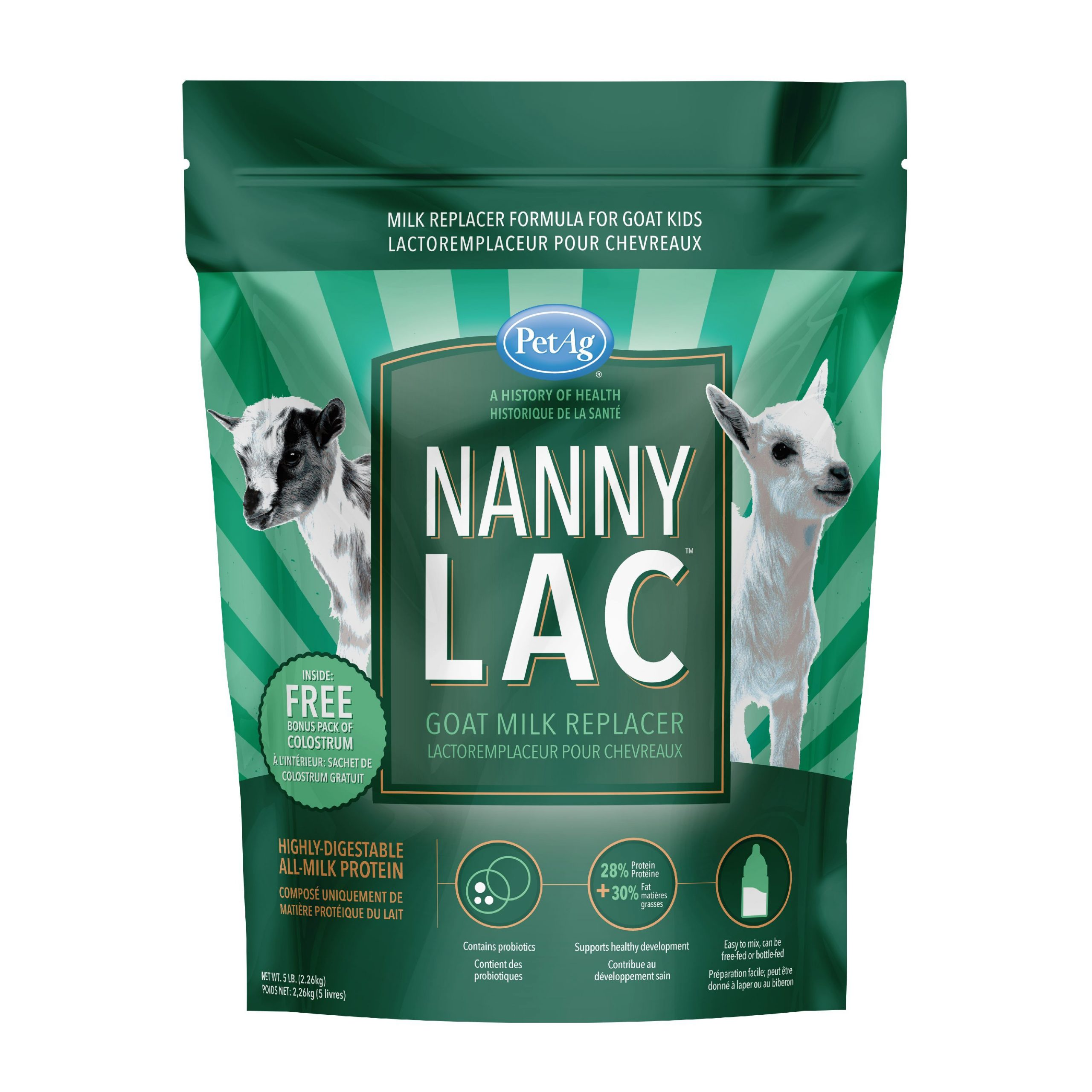 Petag Nanny-Lac Goat Milk Replacement Powder With Colostrum, 5 Lbs. -  Walmart avec Puzzle Gratuit Facile