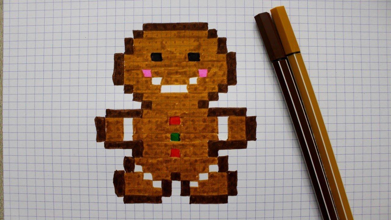 Petit Biscuit En Pixel Art destiné Pixel Art De Noël