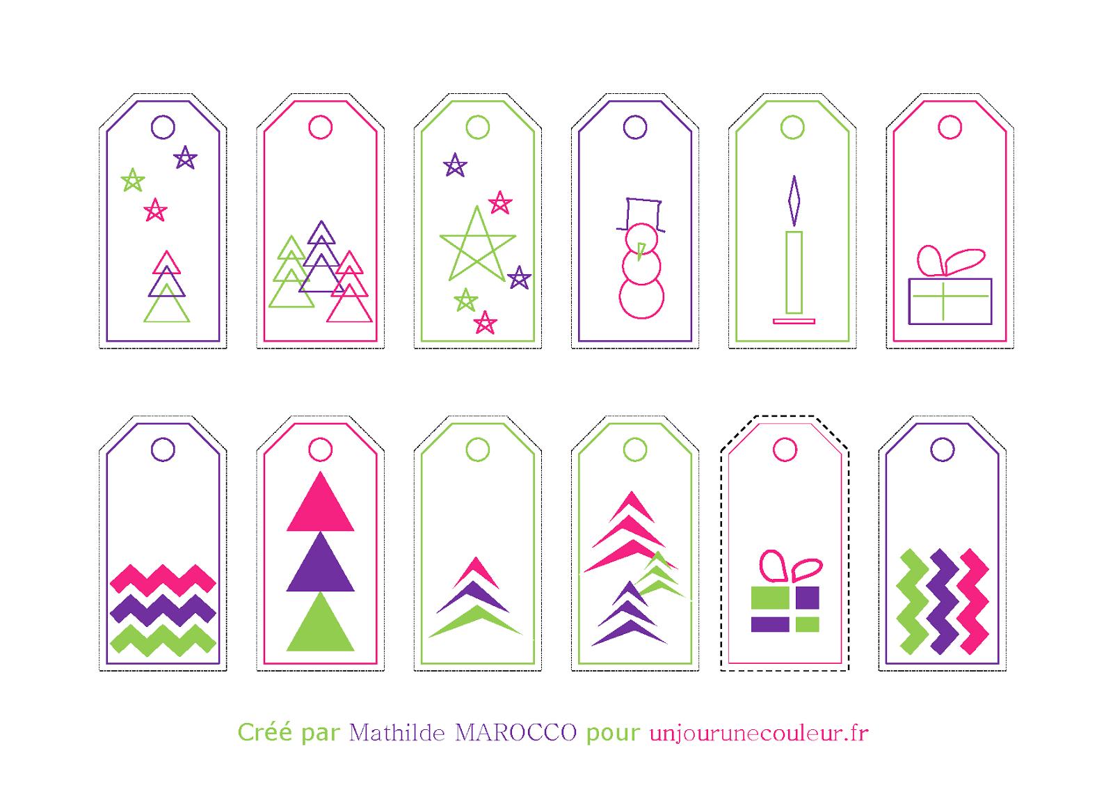 Petit Cadeau En Attendant Noël : Des Étiquettes Cadeaux dedans Etiquette Noel A Imprimer