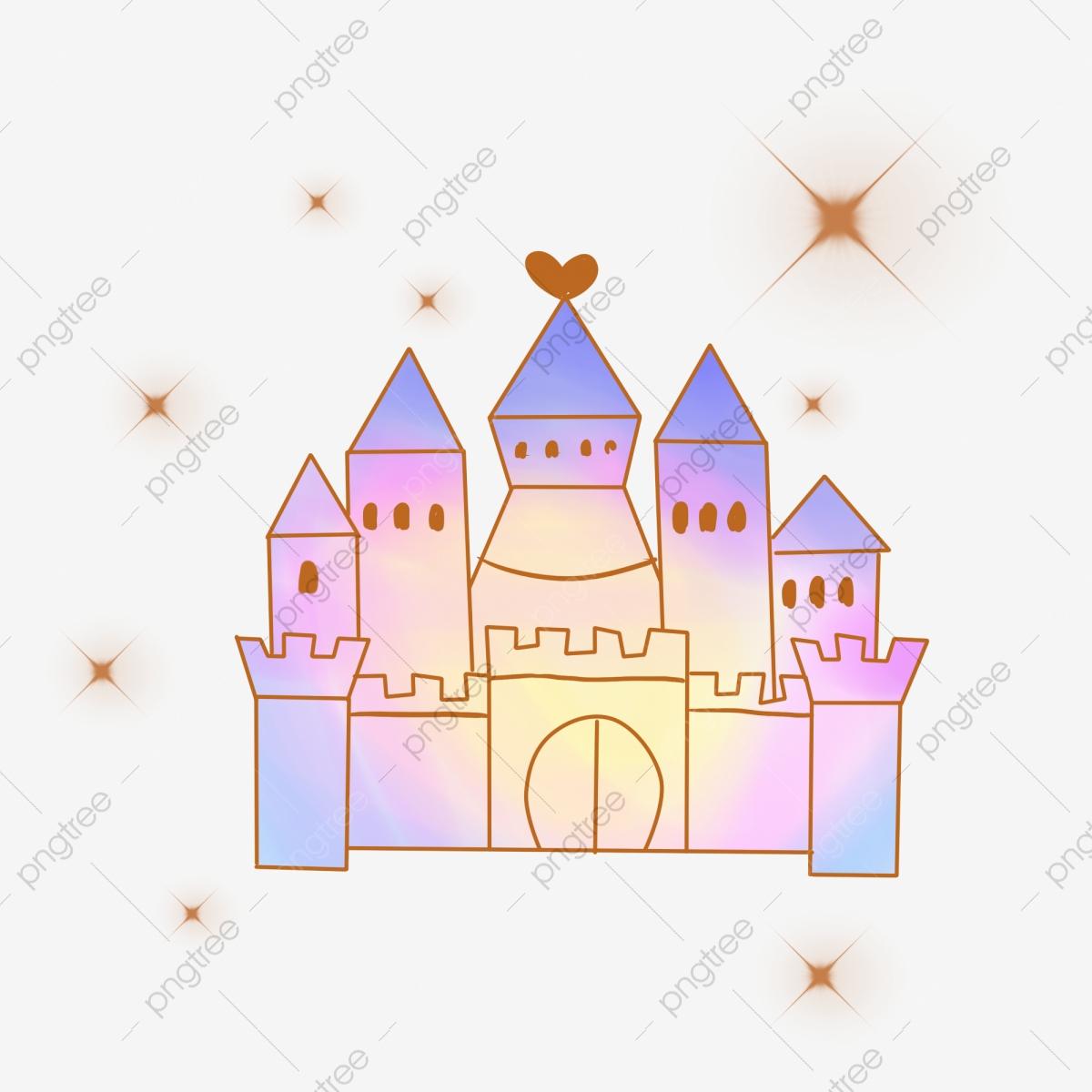 Petit Château De Rêve Petites Choses De Rêve Illustration Du concernant Dessin Chateau Princesse
