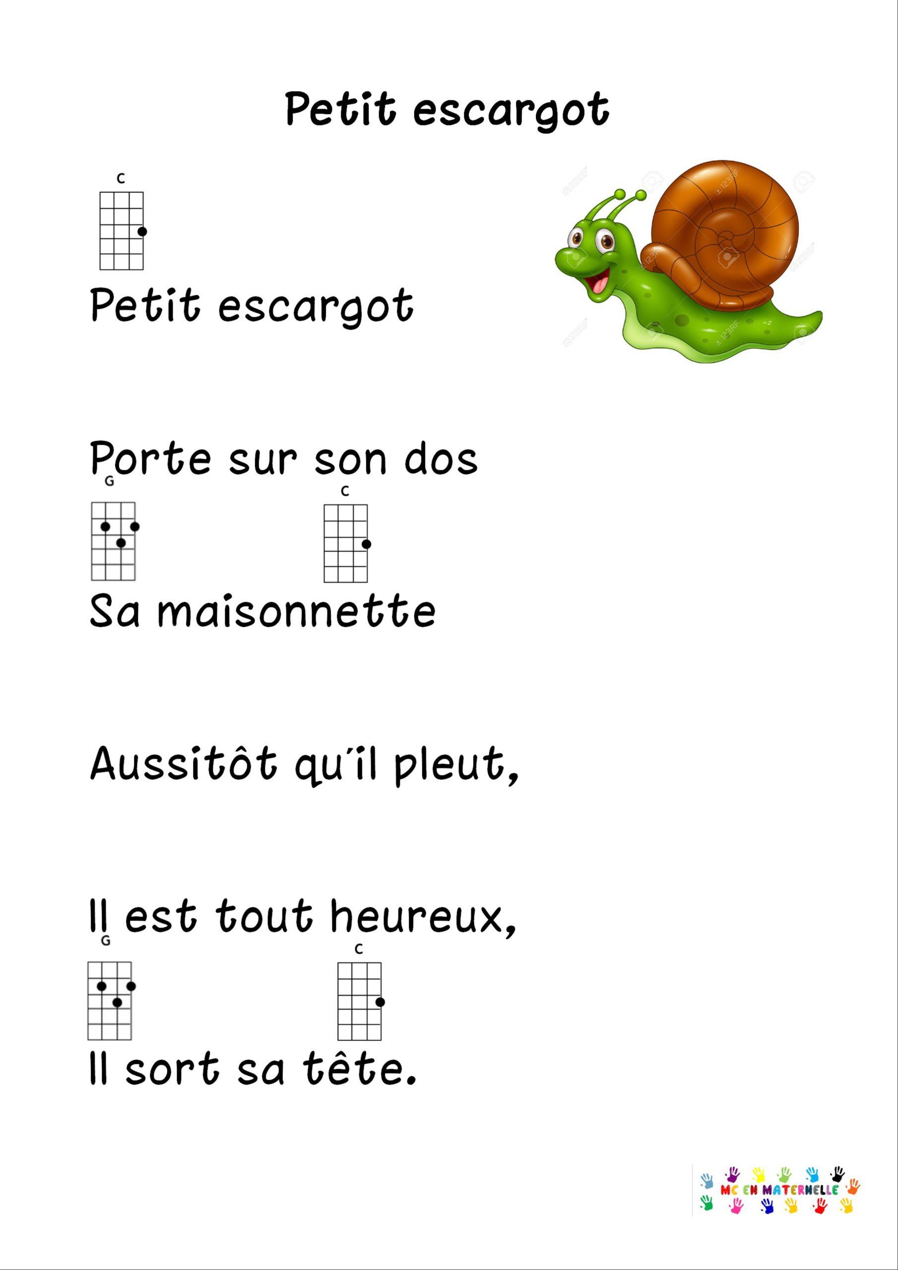 Petit Escargot Pour Ukulélé – Mc En Maternelle dedans Jeux Gratuit Escargot