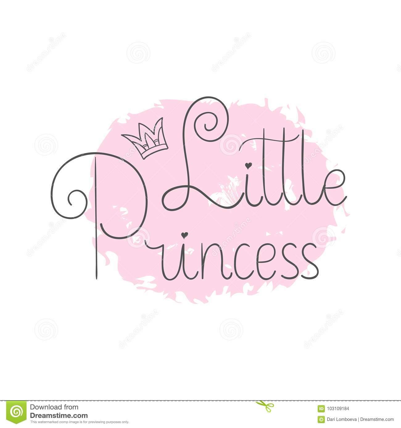 Petite Princesse Le Lettrage De Main Cite Pour Imprimer Sur concernant Creche A Imprimer