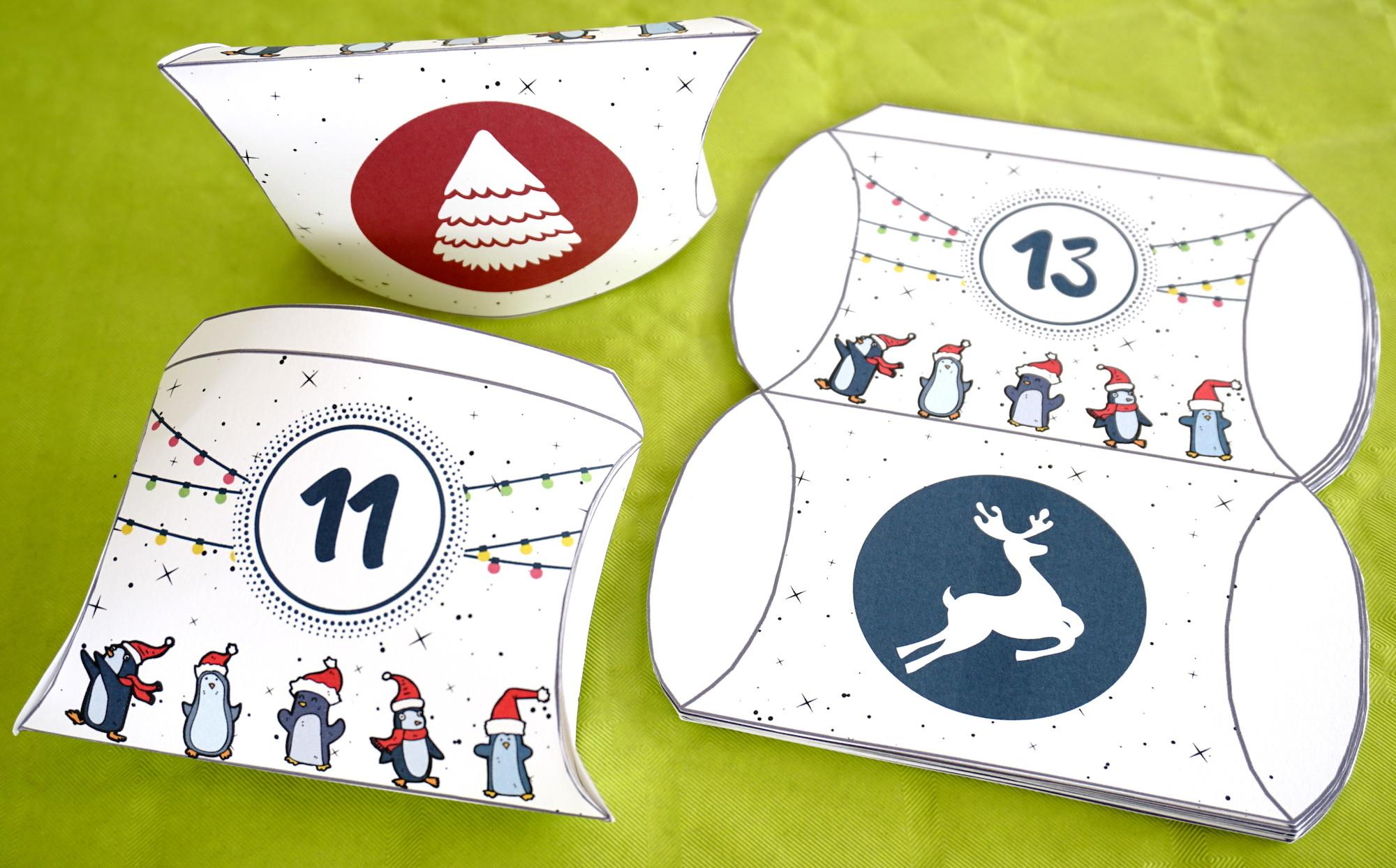 Petites Boites À Imprimer Pour Confectionner Votre à Boite De Noel A Imprimer