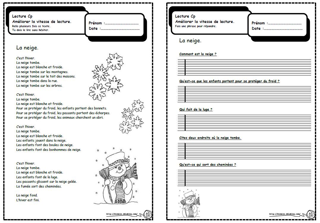 Petits Textes Pour Travailler La Lecture Et La Compréhension avec Fiche Français Ce1 Imprimer