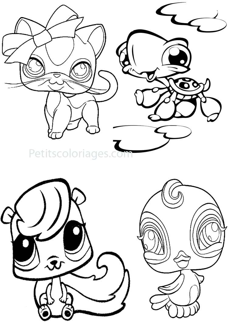 Petshop For Children - Petshop Kids Coloring Pages destiné Dessin De Petshop