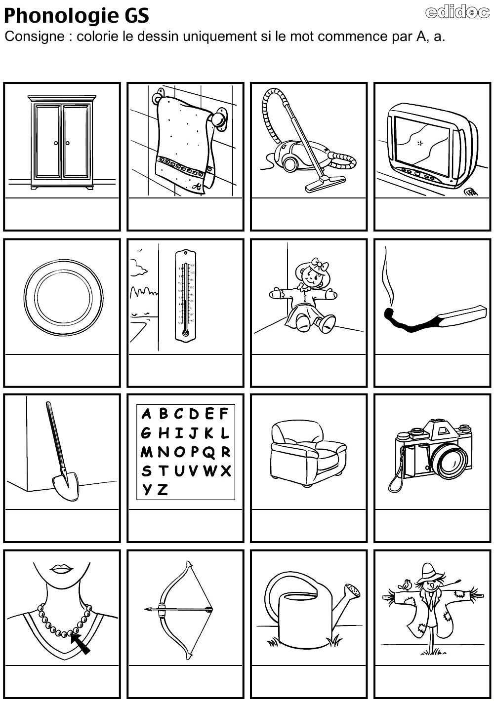 Phonologie Gs - Zaubette dedans Fiche D Exercice Grande Section A Imprimer