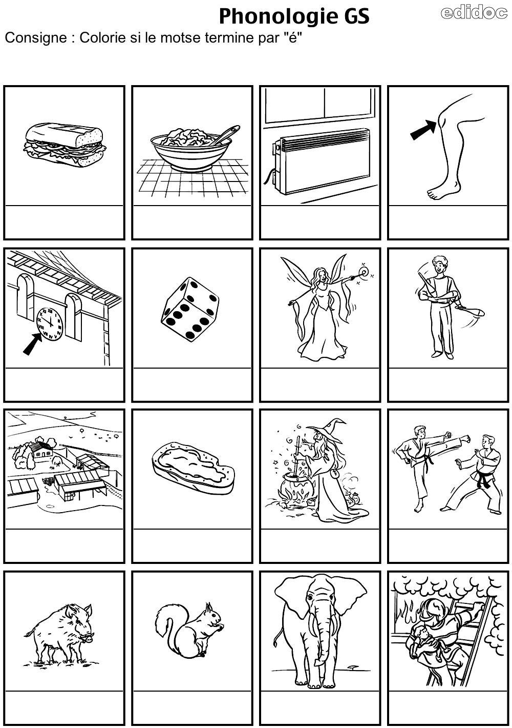 Phonologie Gs - Zaubette destiné Exercice Grande Section Maternelle Gratuit A Imprimer