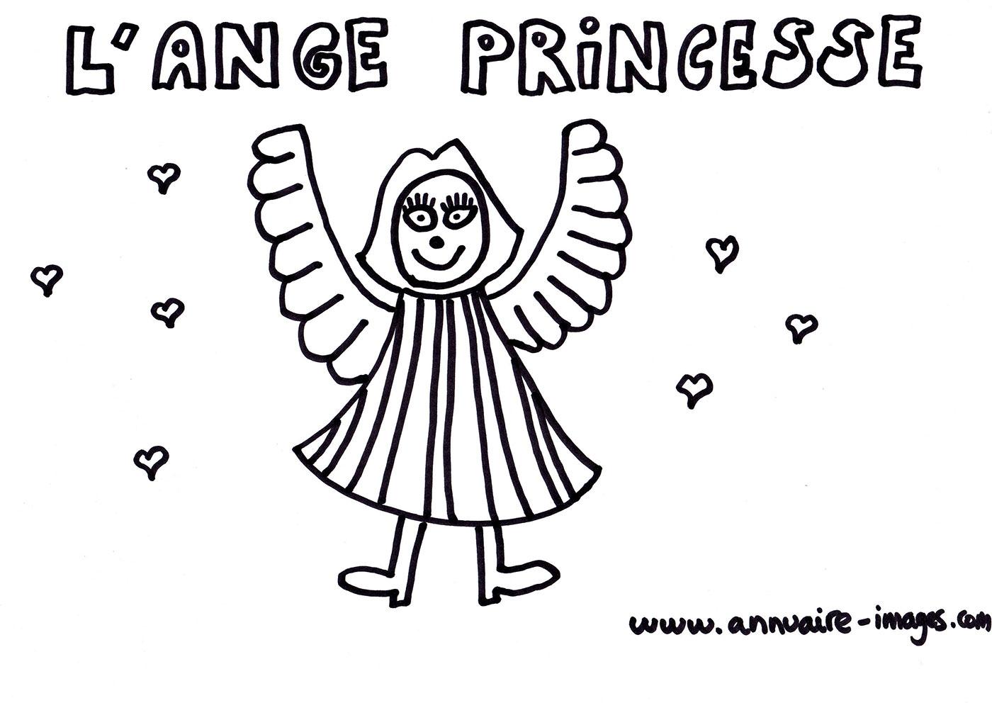Photo Ange Princesse Avec Des Ailes tout Ange A Colorier