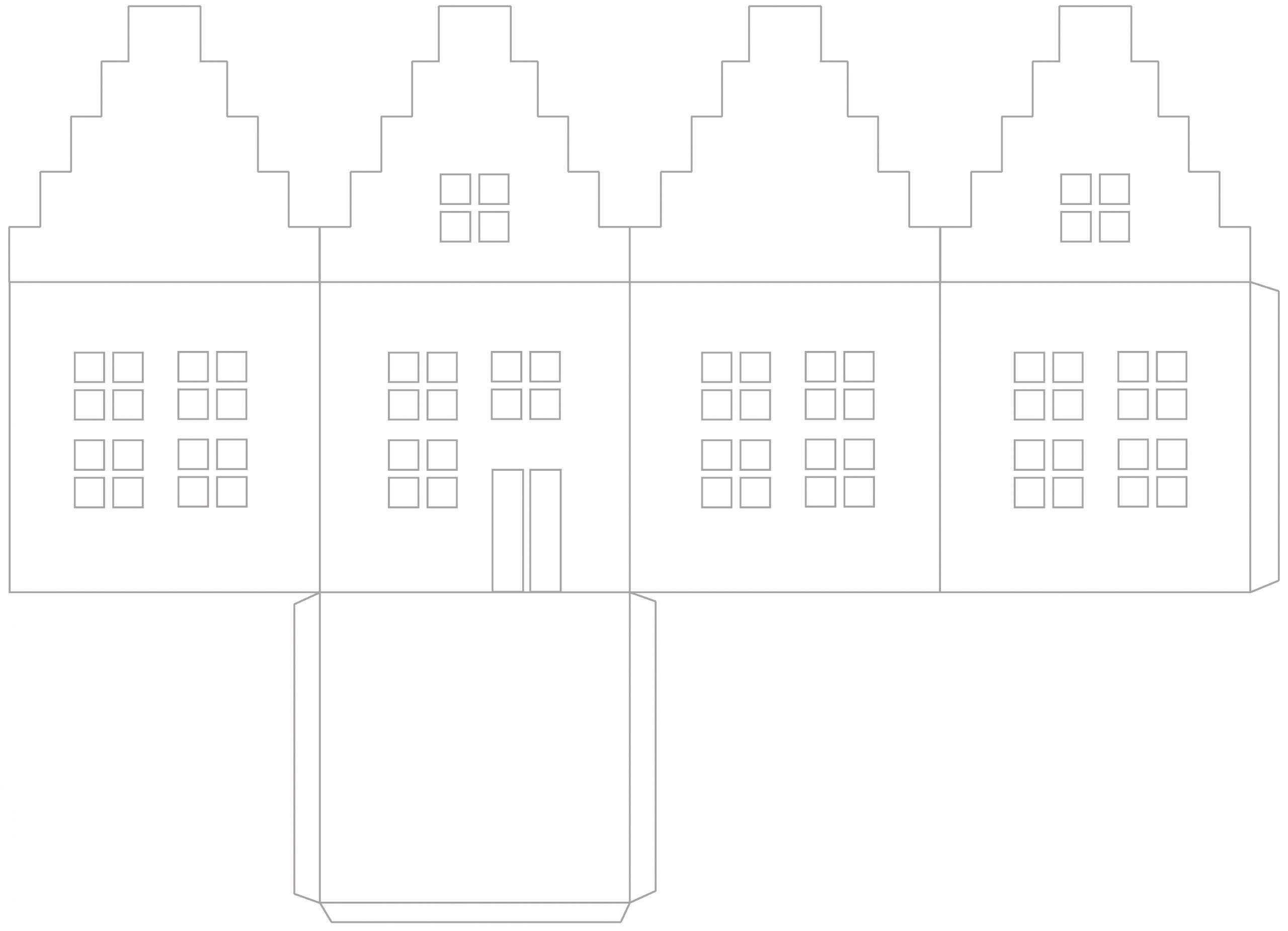 Photophore En Papier : Tutoriel Pour Faire Une Maison avec Patron De Maison En Papier A Imprimer