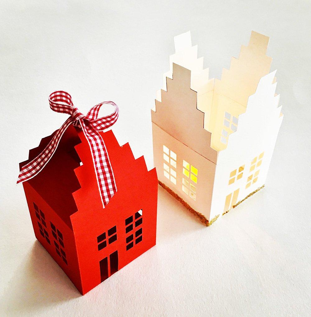 Photophore En Papier : Tutoriel Pour Faire Une Maison intérieur Maison Papier A Decouper