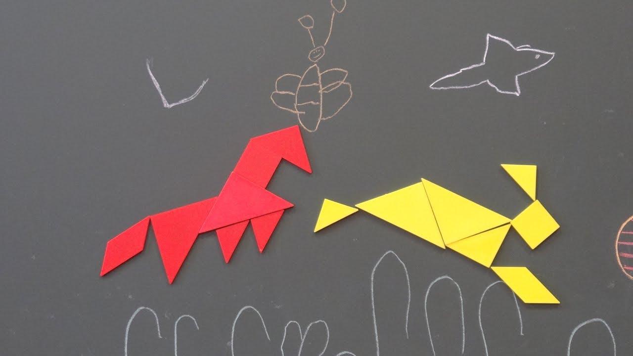 Pic Épique École Tangram ! Film D'animation Réalisé Avec Des Élèves De Gs  De Maternelle dedans Tangram En Maternelle