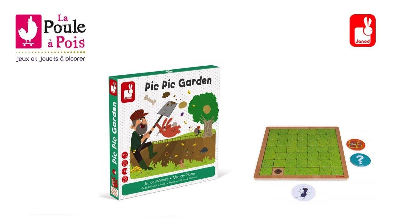 Pic Pic Garden - Jeu De Mémoire - Janod - Lapouleapois.fr avec Jeux De Mimoire