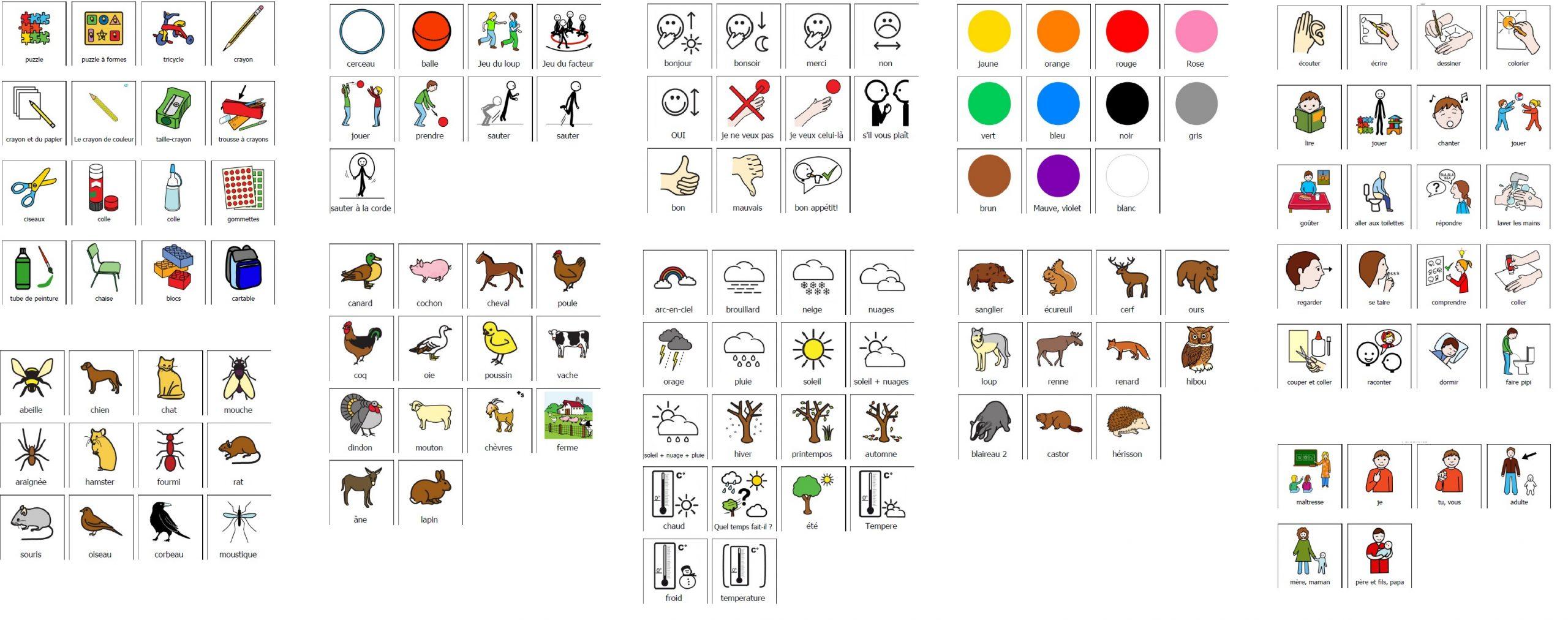 Pictogrammes À Gogo - Alice En Ulis à Exercices Maternelle À Imprimer