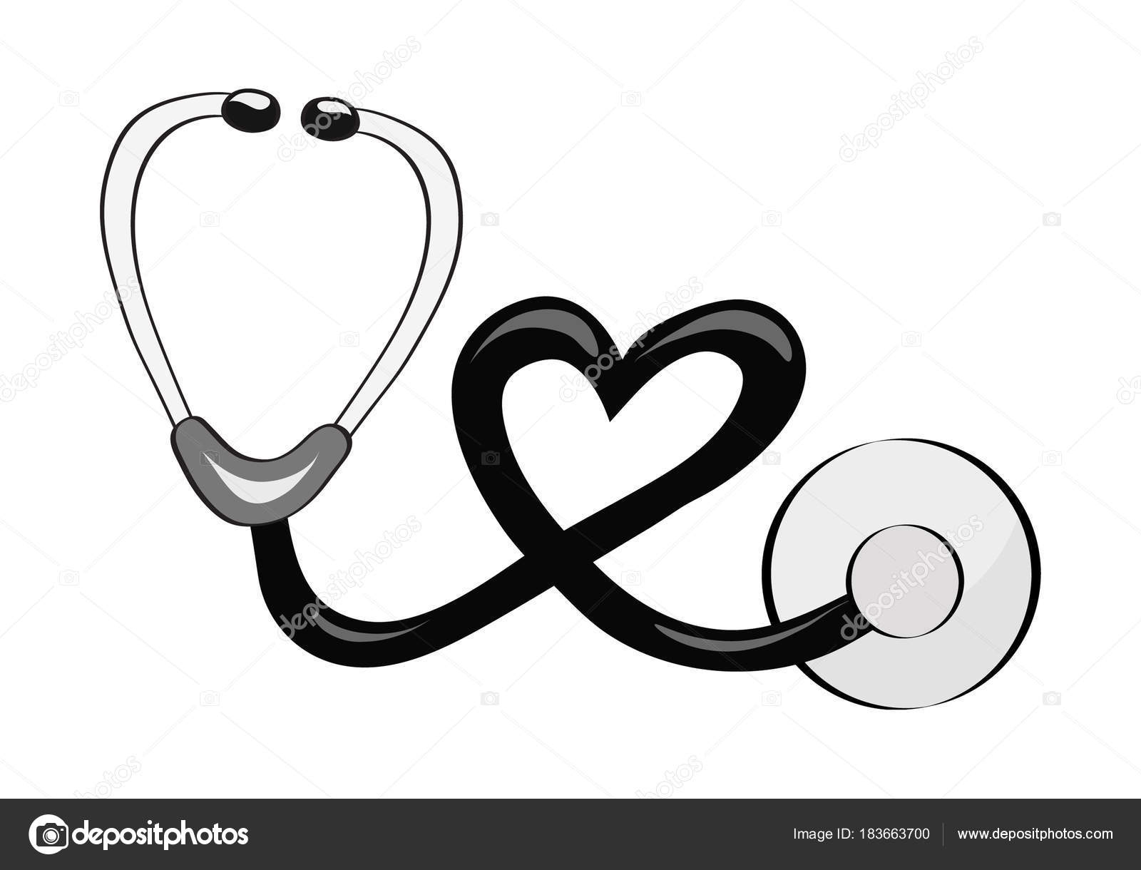 Pictures : Drawing Stethoscope | Hand Draw Stethoscope For encequiconcerne Stéthoscope Dessin