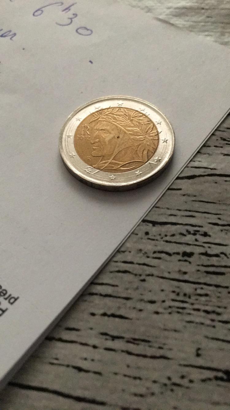 Pièce 2 Euro Italie 2012 Dante - Faux - Forums Numismatique intérieur Fausses Pieces Euros