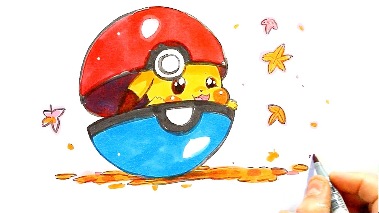Pikachu Dessin Facile - Dessin Pokemon - Comment Dessiner Un Pokemon Kawaii avec Dessin De Pikachu Facile