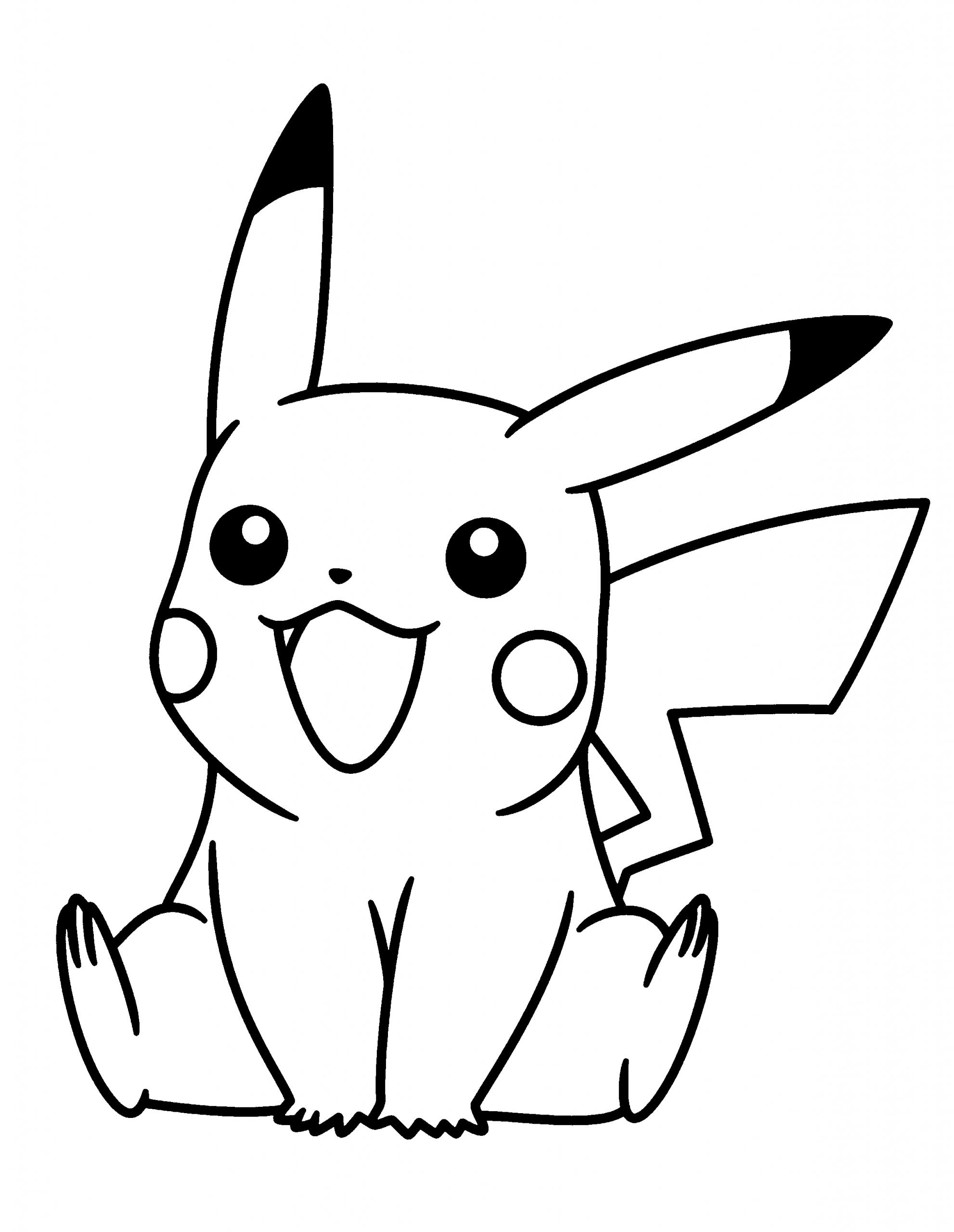 Pikachu Pokemon Coloring Pages | Coloriage Pikachu encequiconcerne Dessin De Pikachu Facile
