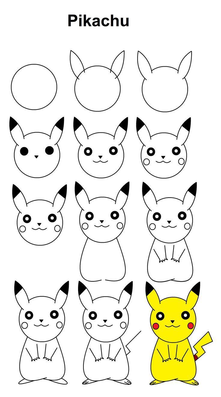 Pikachu #step-By-Step #tutorial, #pikachu #stepbystep encequiconcerne Dessin De Pikachu Facile
