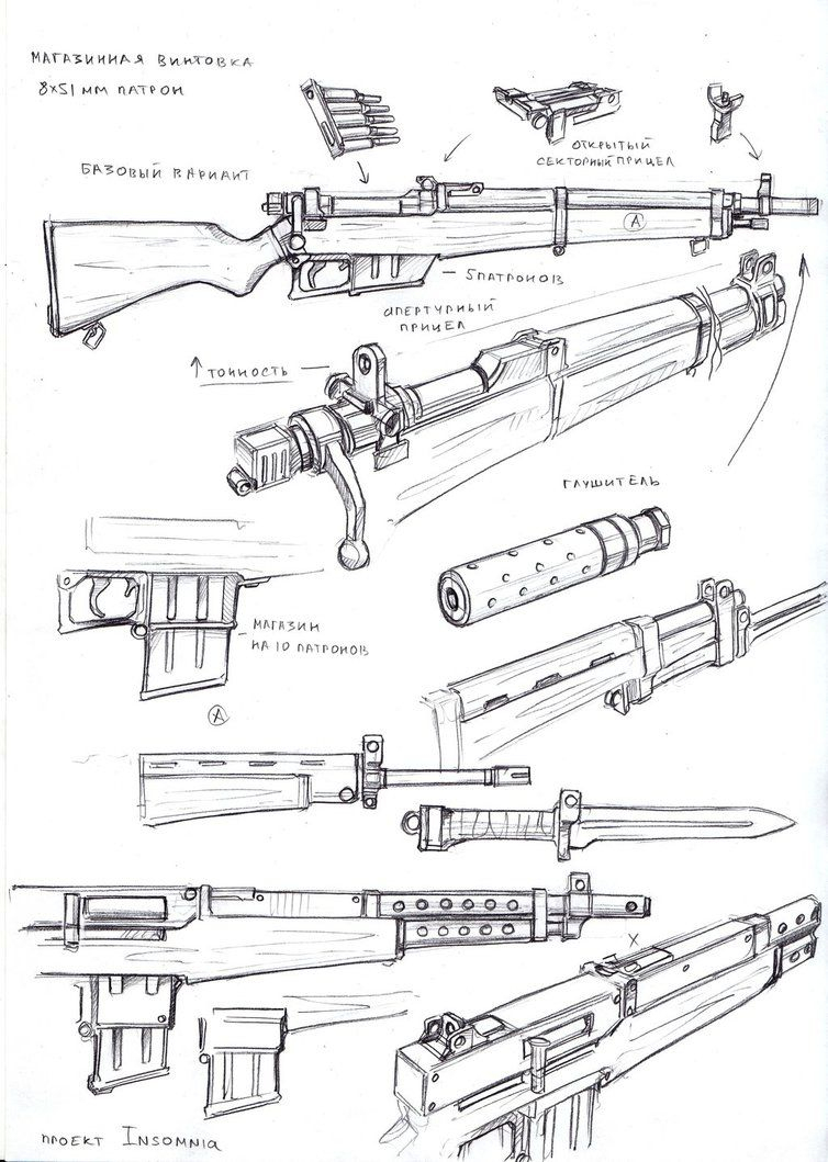 Pin Em Accessories concernant Comment Dessiner Un Fusil