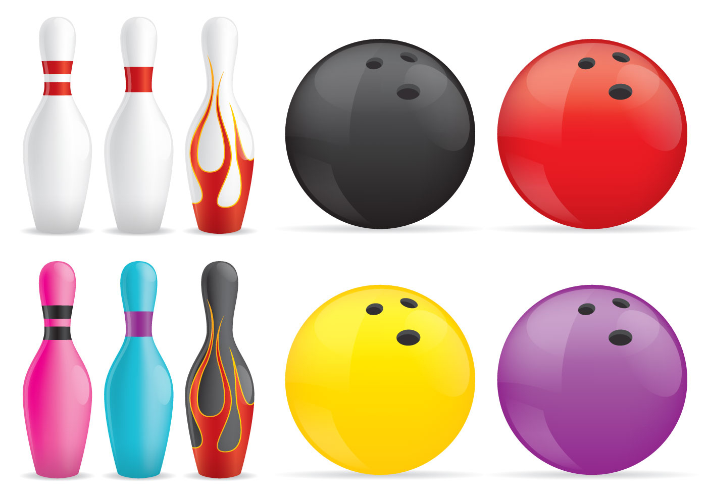 Pins Et Boules De Bowling - Telecharger Vectoriel Gratuit serapportantà Jeux Gratuits De Bowling