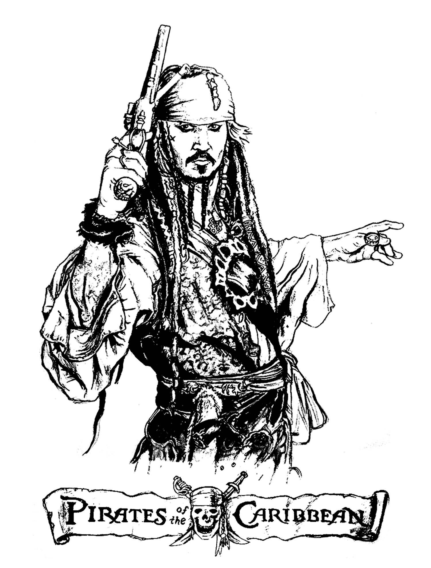 Pirates Des Caraibes - Films Célèbres - Coloriages concernant Dessin A Imprimer De Pirate