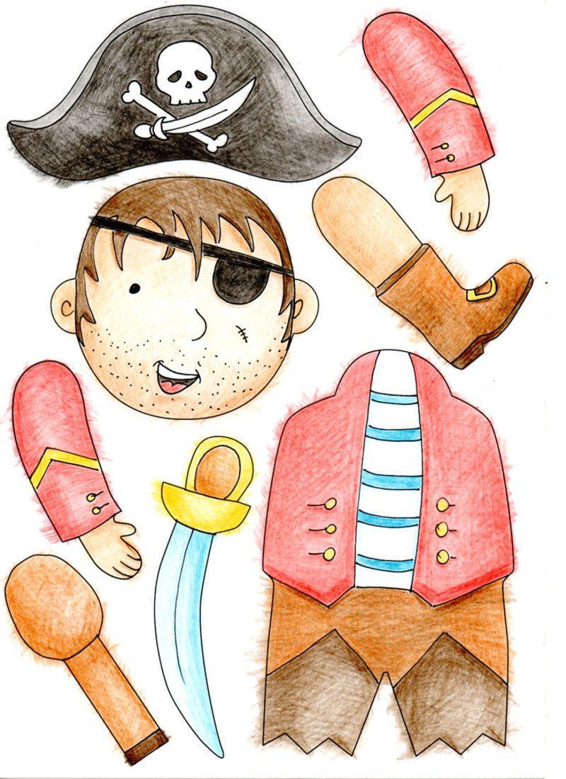 Pirates | Pantin, Anniversaire Pirate Et Pantin Articulé encequiconcerne Pantins Articulés À Imprimer