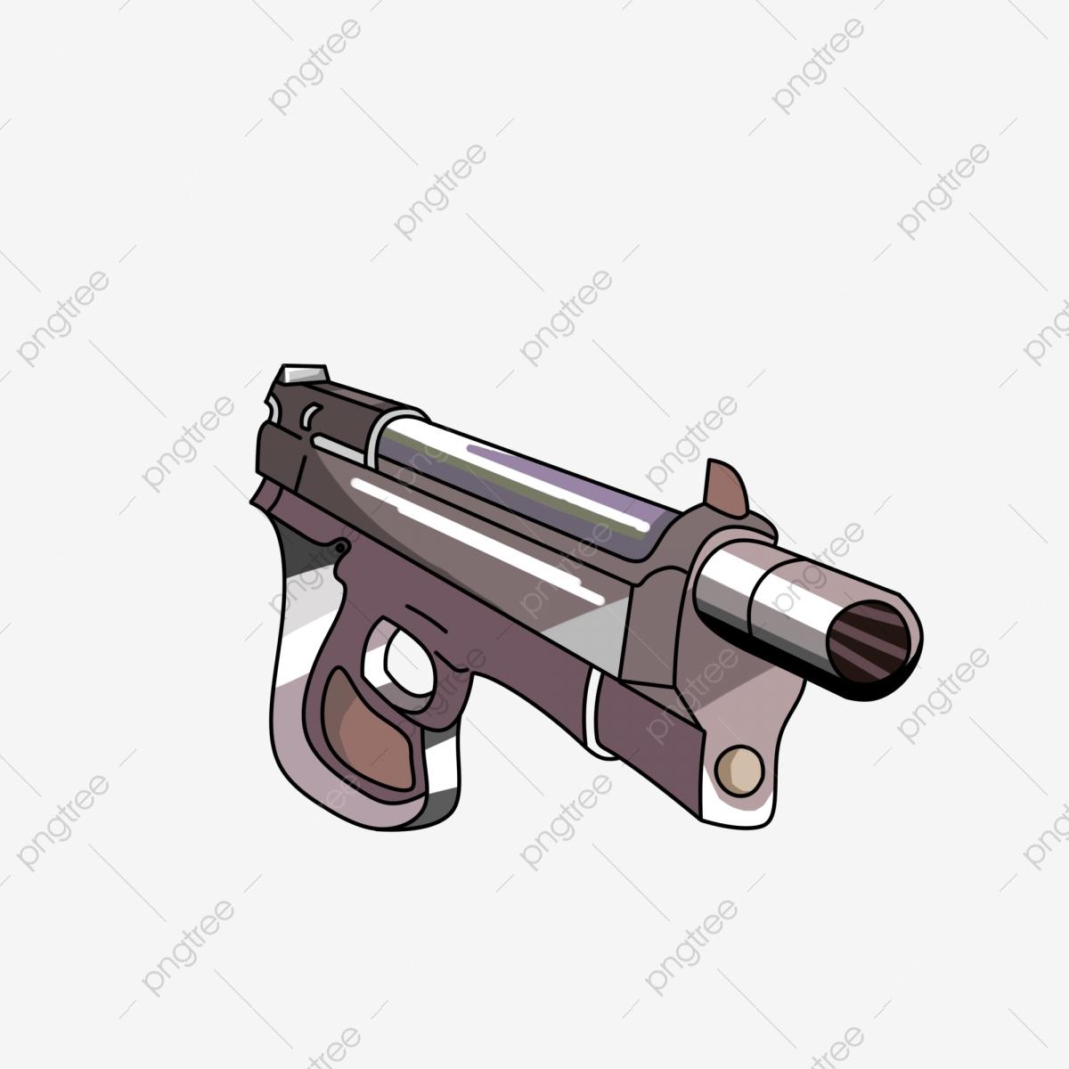 Pistolet Silencieux Pistolet De Dessin Animé Décoration Du concernant Comment Dessiner Un Fusil