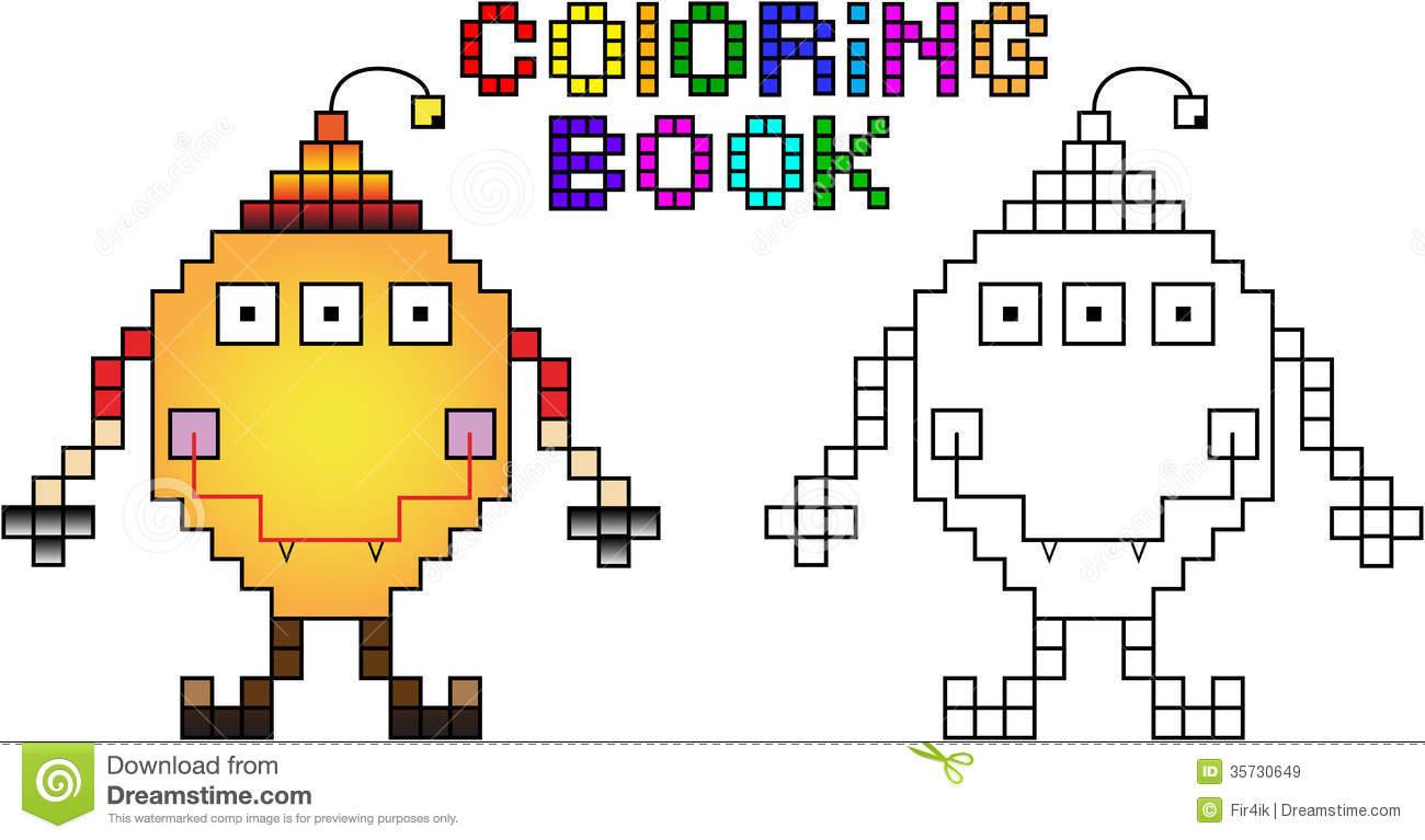Pixel Art A Colorier avec Coloriage Pixel Gratuit