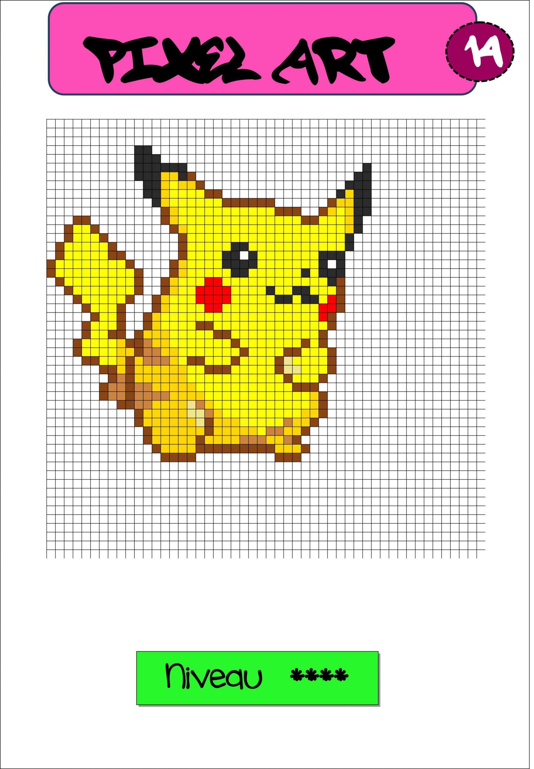 Pixel Art Autonomie Reproduction Sur Quadrillage | Coloriage avec Coloriage Pixel Gratuit