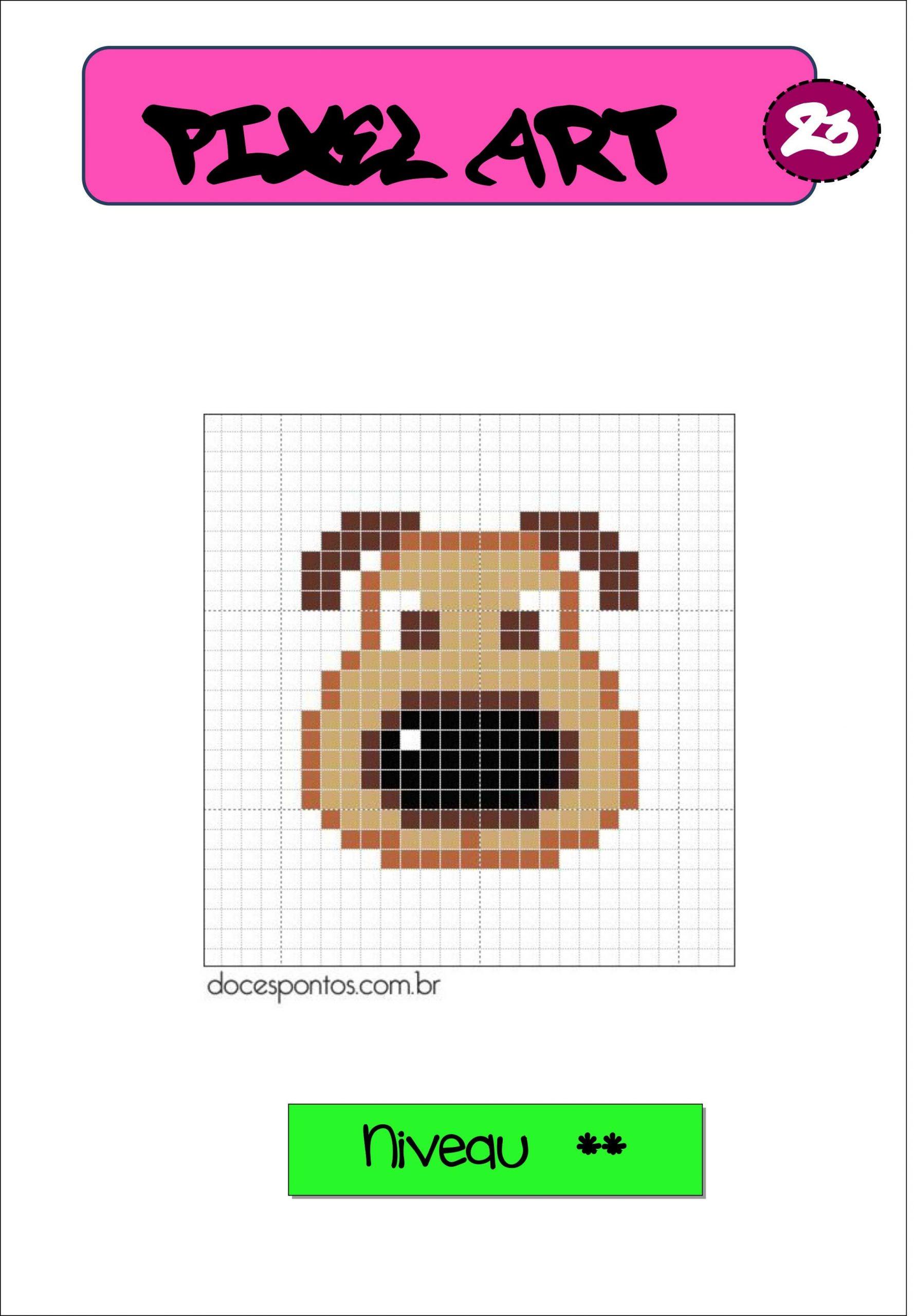 Pixel Art Autonomie Reproduction Sur Quadrillage | Pixel Art dedans Reproduction Sur Quadrillage Ce2