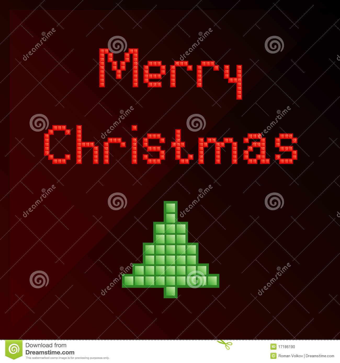 Pixel Art Christmas Card Stock Vector. Illustration Of Merry avec Pixel Art De Noël