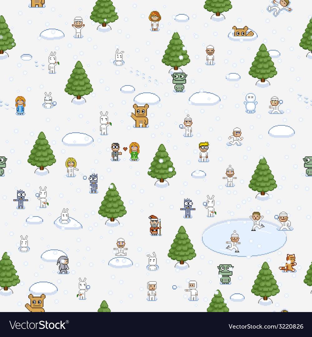 Pixel Art Christmas Pattern tout Pixel Art De Noël