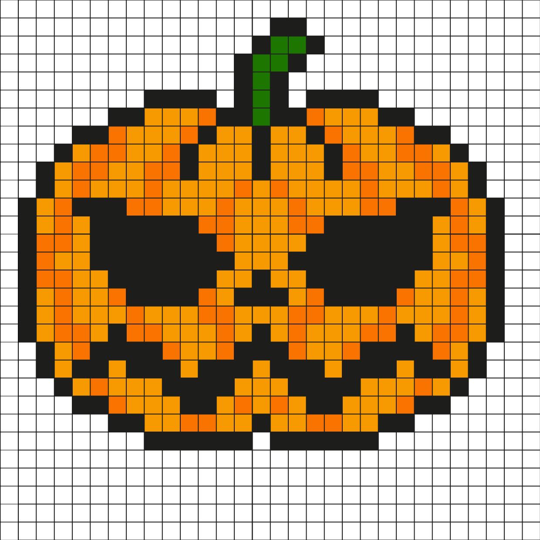 Pixel Art Citrouille Par Tête À Modeler à Modele Dessin Pixel