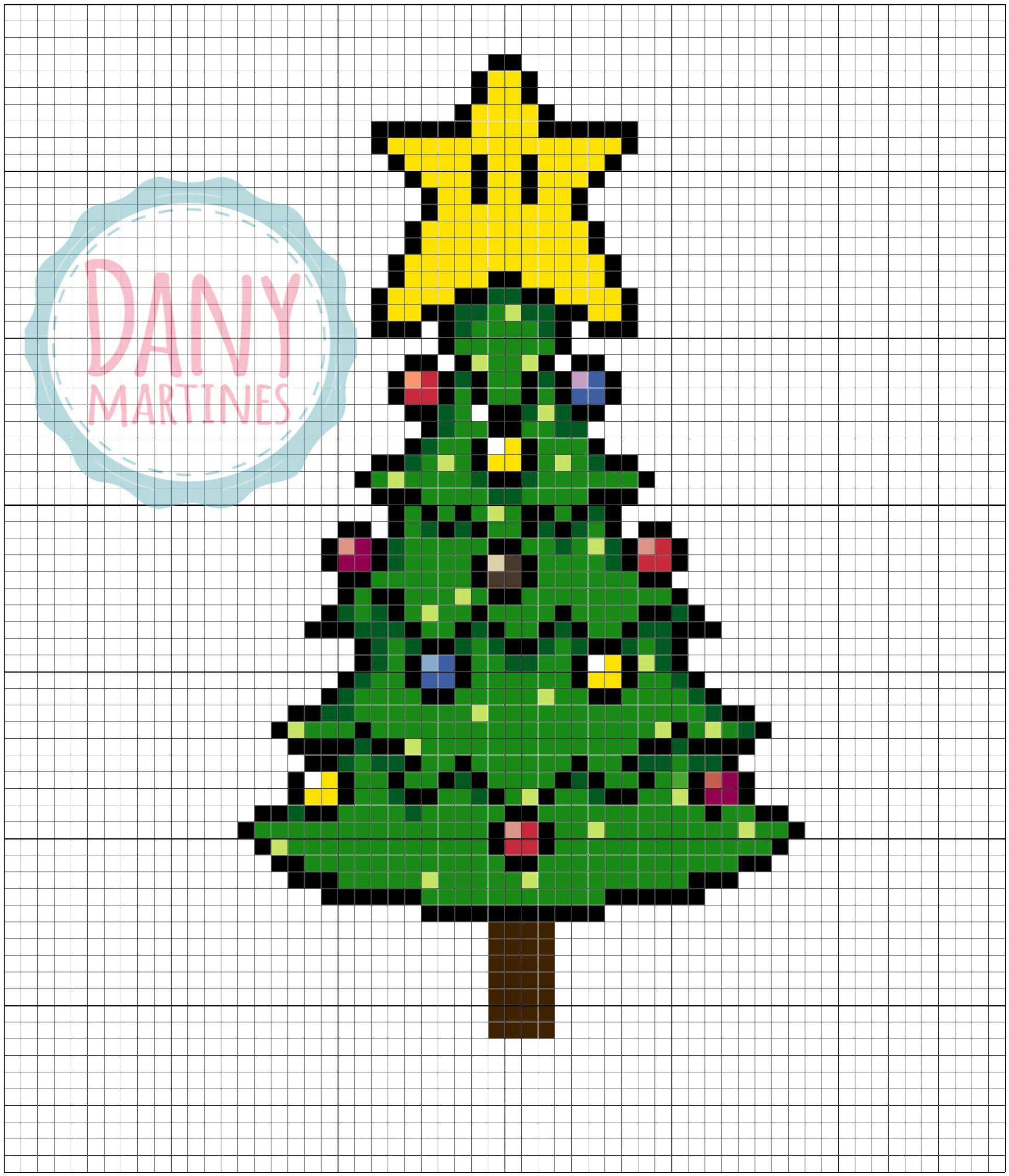 Pixel Art De Natal: Https://./watch?v=I4R avec Pixel Art De Noël