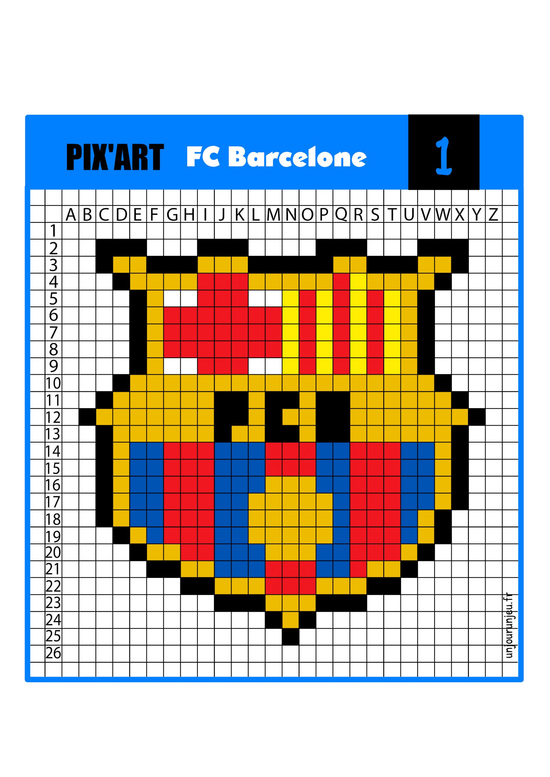 Pixel Art Football : 12 Logos De Club À Télécharger intérieur Modele Dessin Pixel