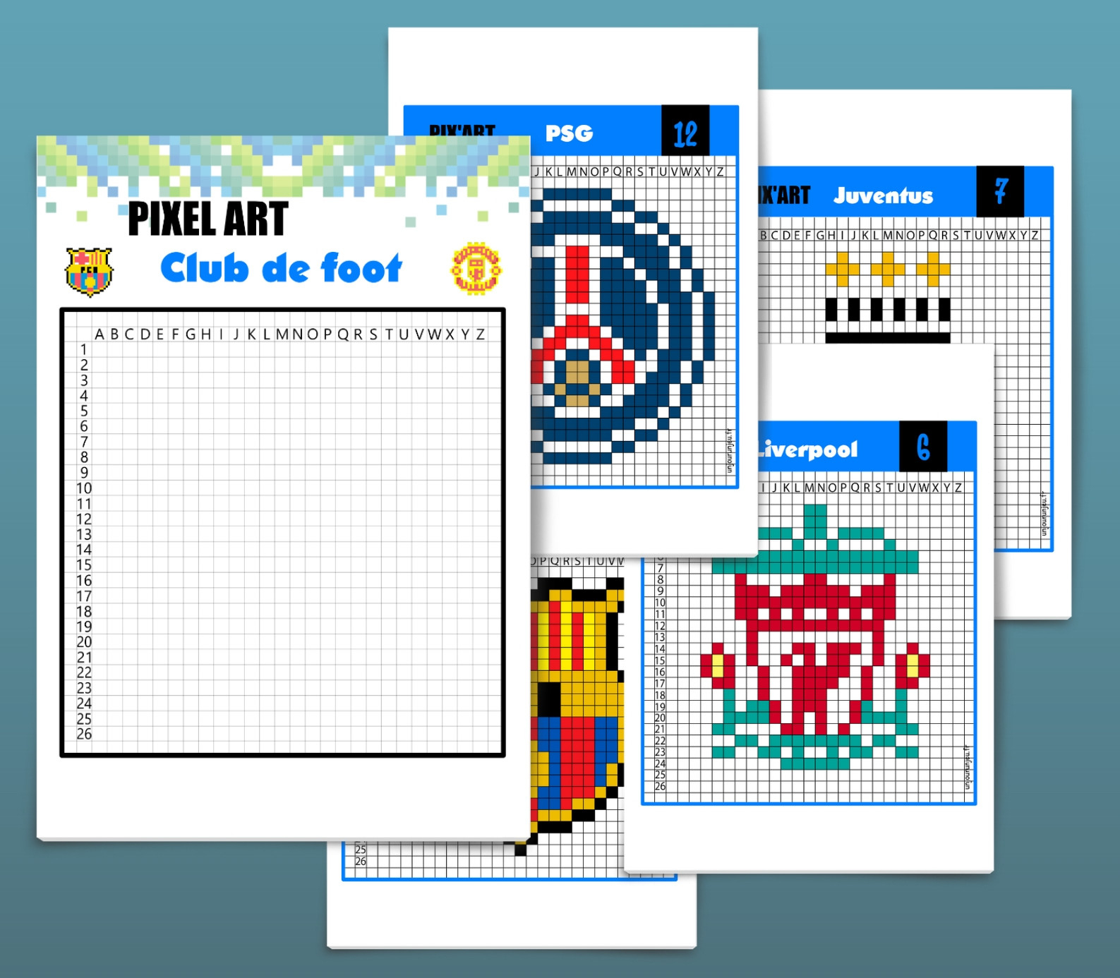 Pixel Art Football : 12 Logos De Club À Télécharger tout Pixel A Colorier