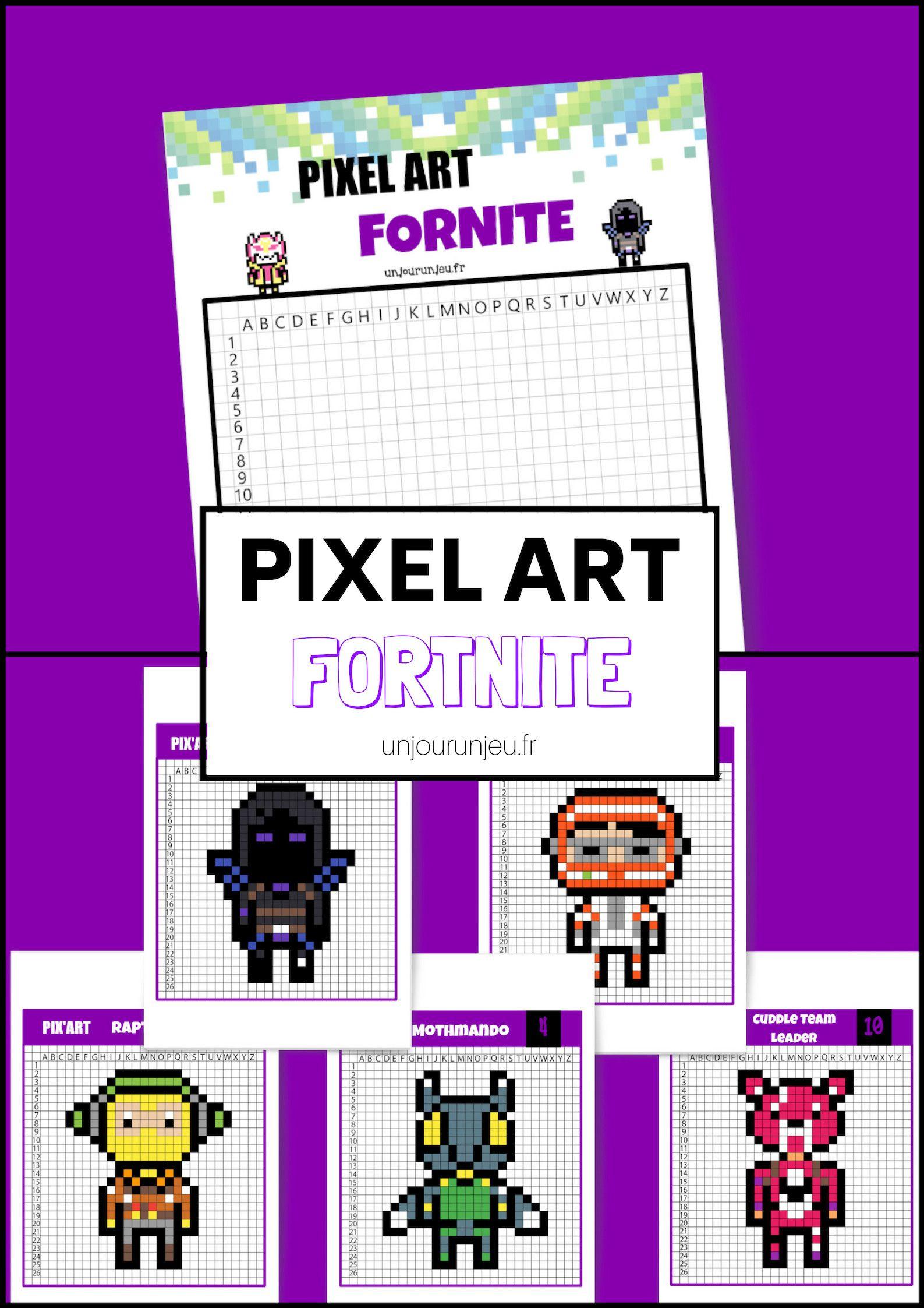 Pixel Art Fornite : 12 Modèles À Télécharger Gratuitement avec Jeux De Dessin Pixel Art Gratuit