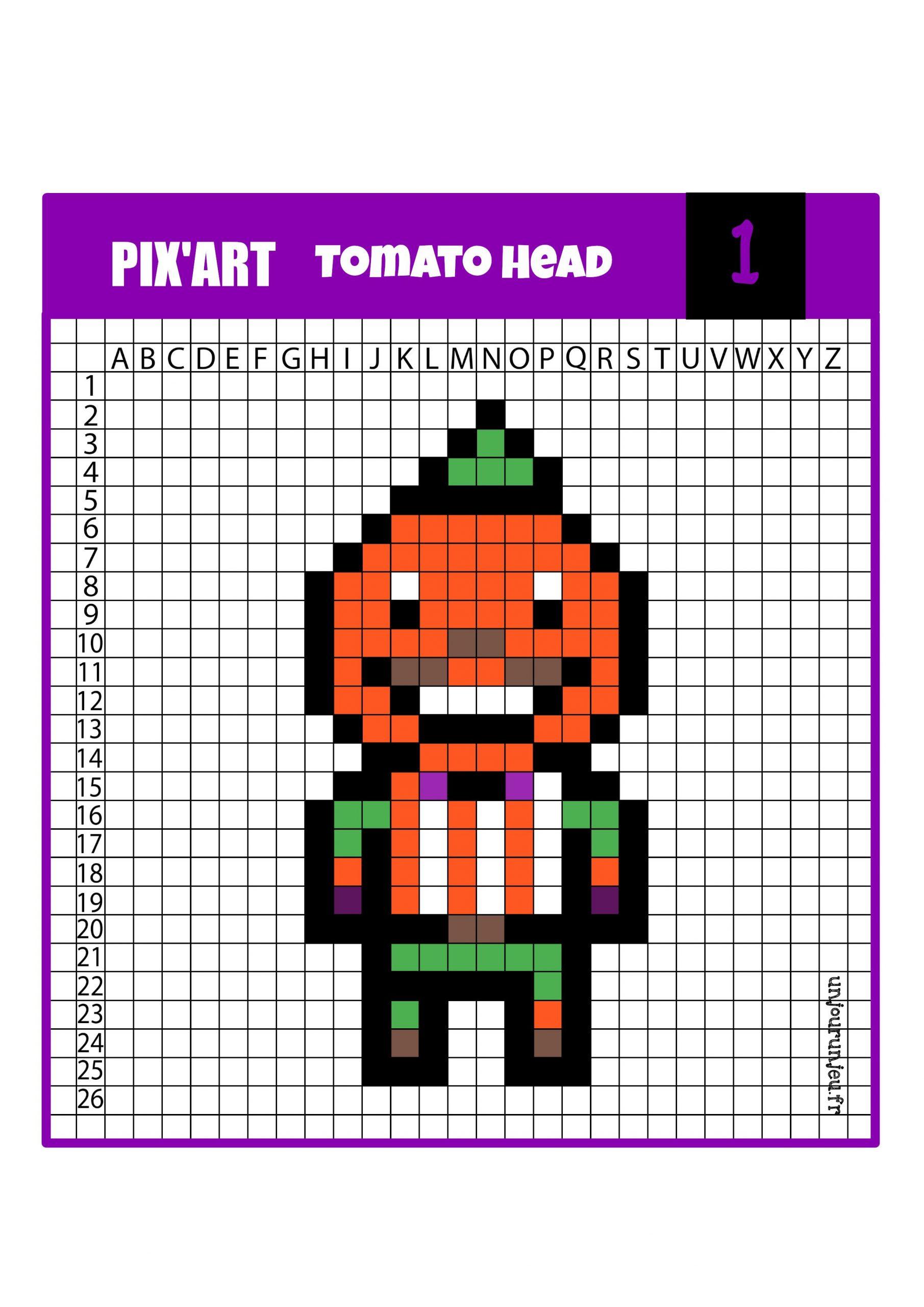 Pixel Art Fornite : 12 Modèles À Télécharger Gratuitement tout Jeu De Coloriage Pixel