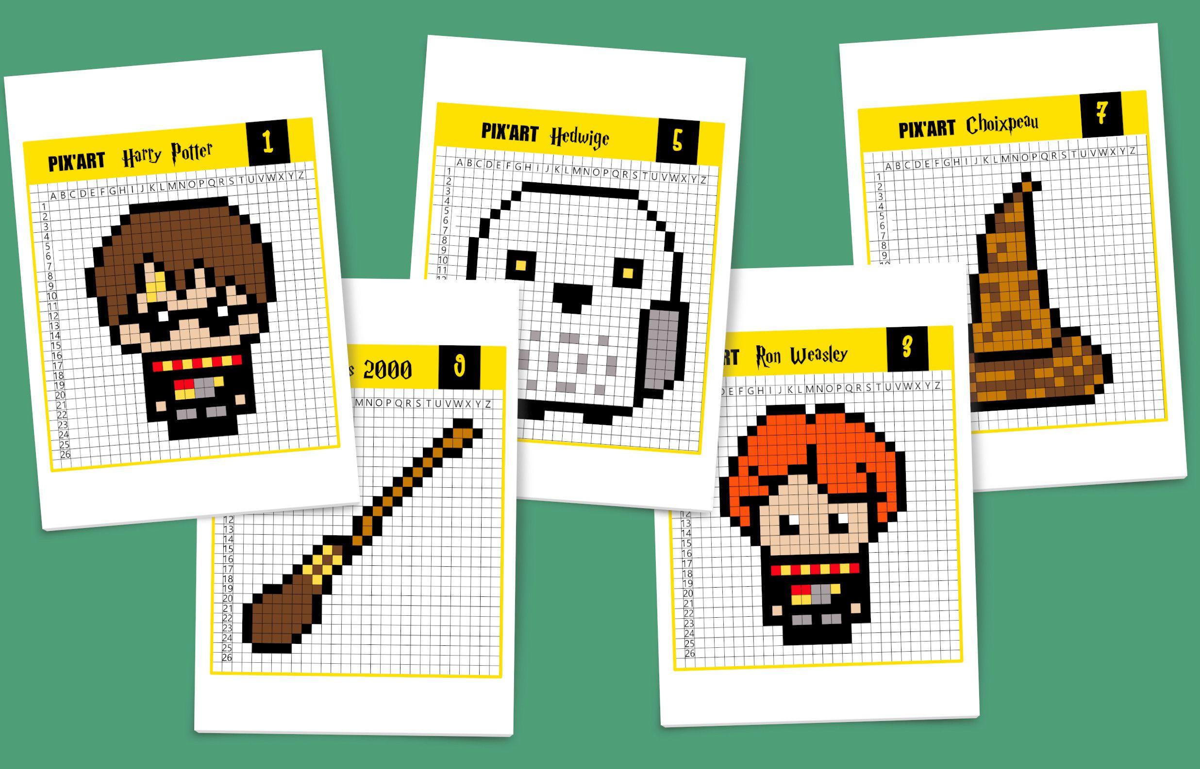 Pixel Art Harry Potter, C'est Magique ! | Pixel Art Harry dedans Jeux Dessin Pixel