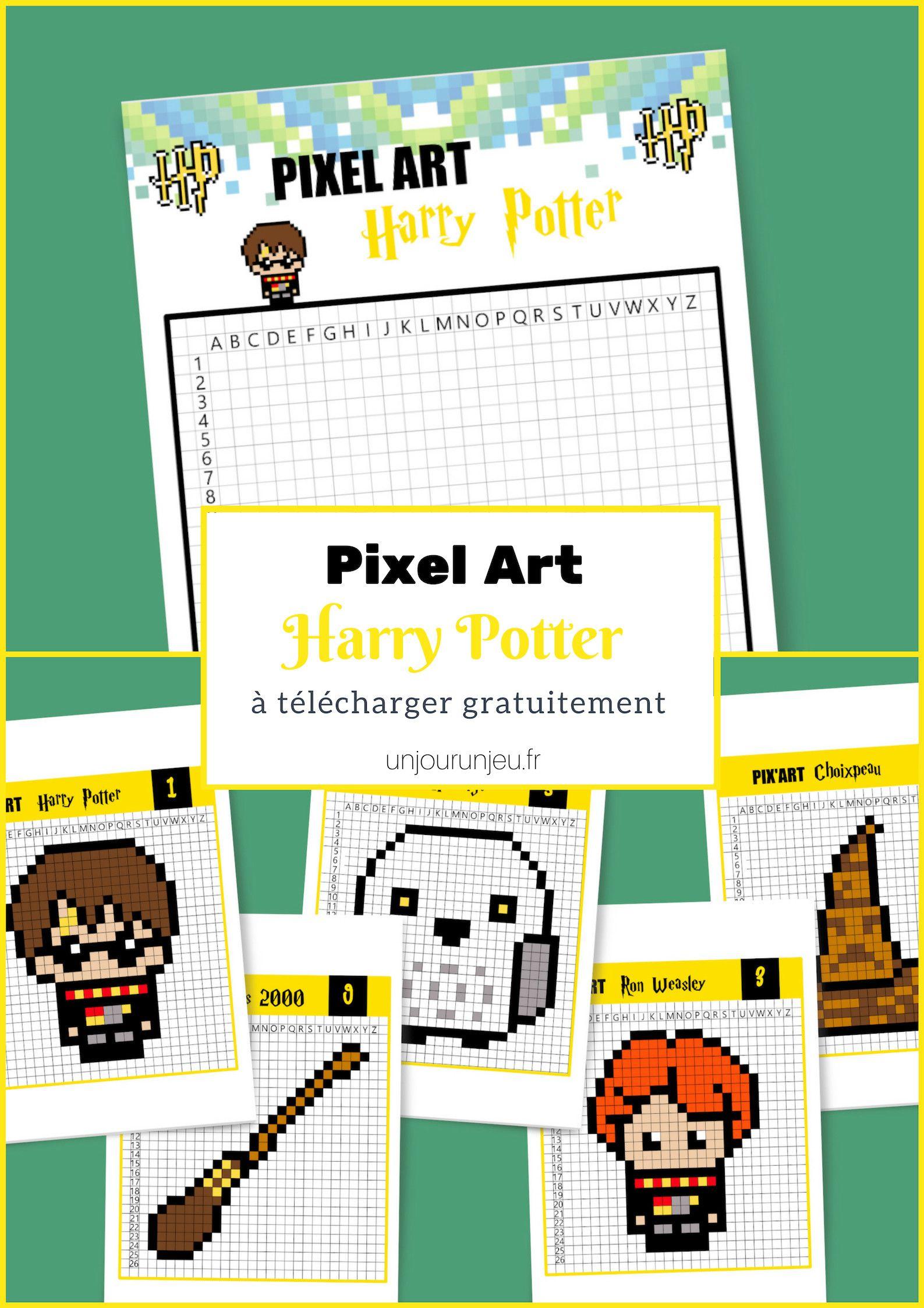 Pixel Art Harry Potter, C'est Magique ! | Pixel Art Harry tout Jeu De Coloriage Pixel