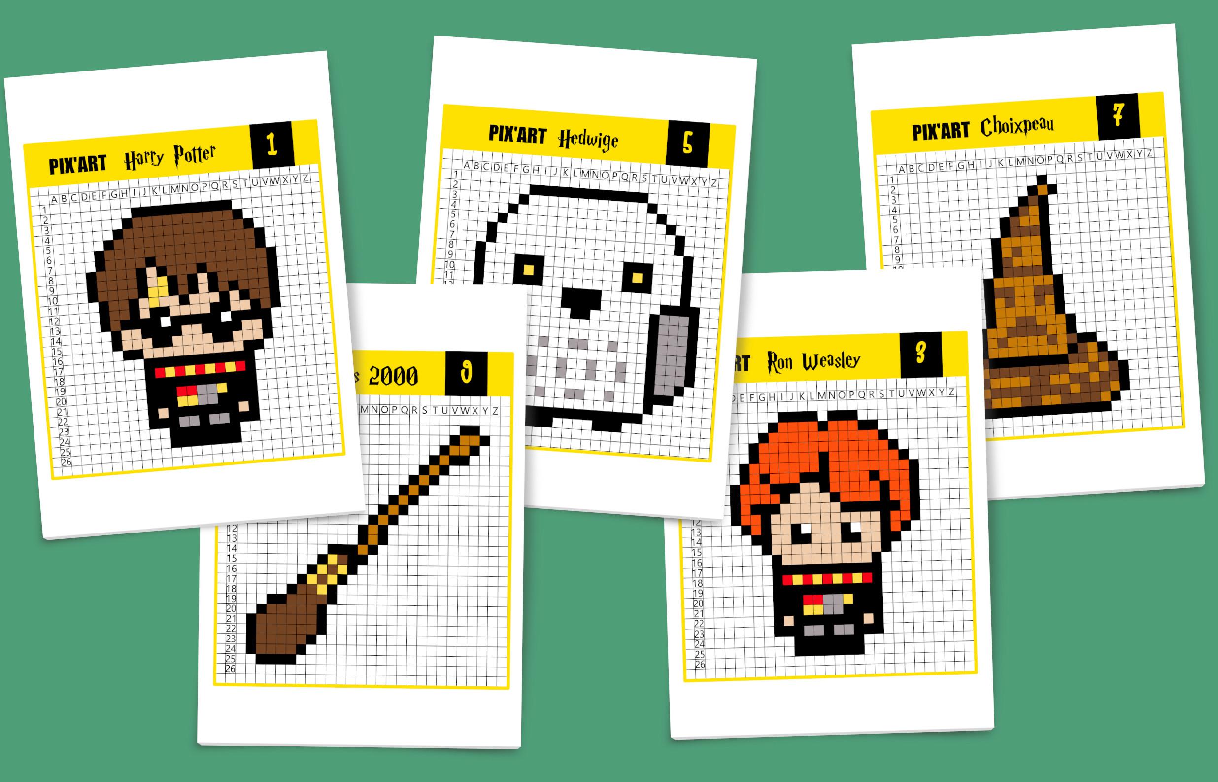Pixel Art Harry Potter, C'est Magique ! - Un Jour Un Jeu à Jeux De Dessin Pixel Art Gratuit