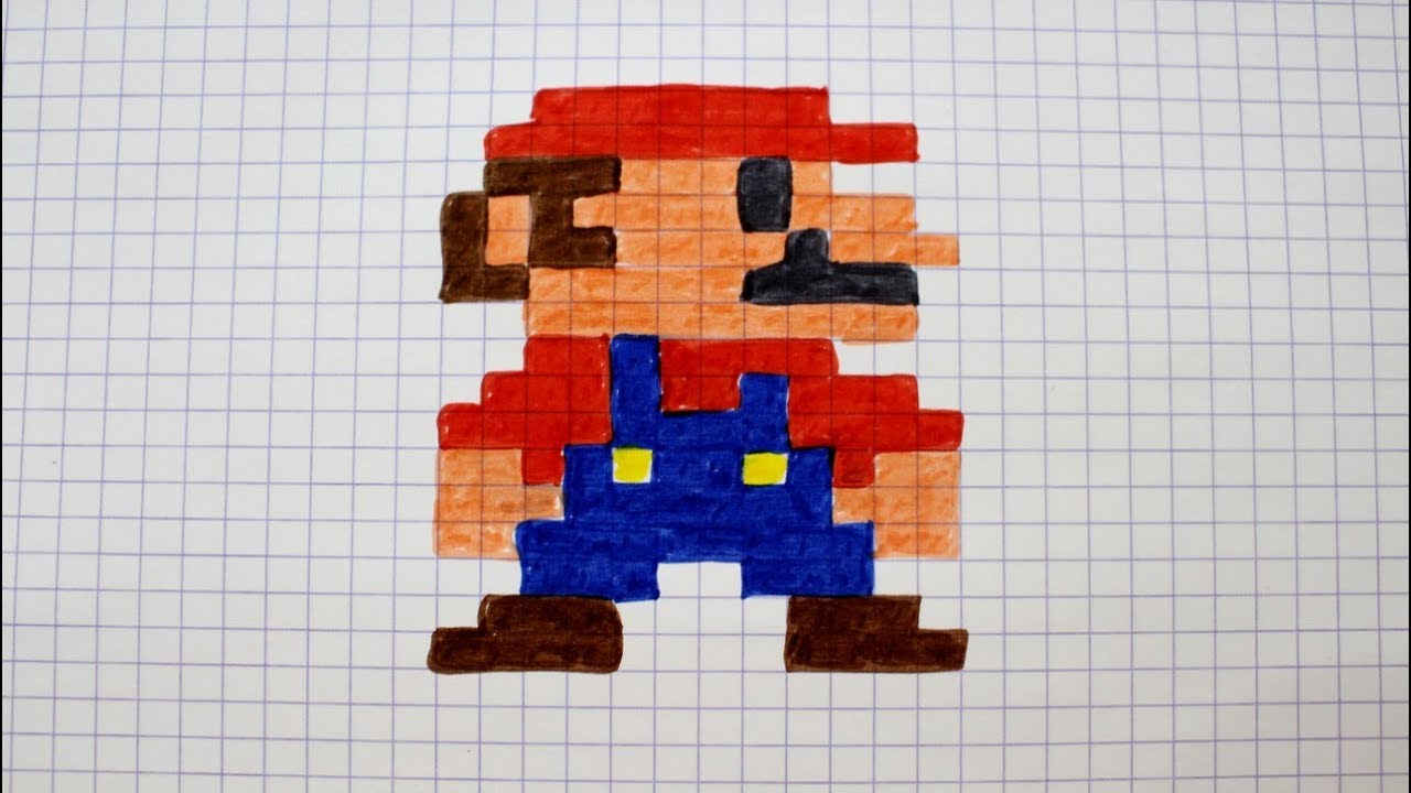 Pixel Art Mario serapportantà Jeux Dessin Pixel