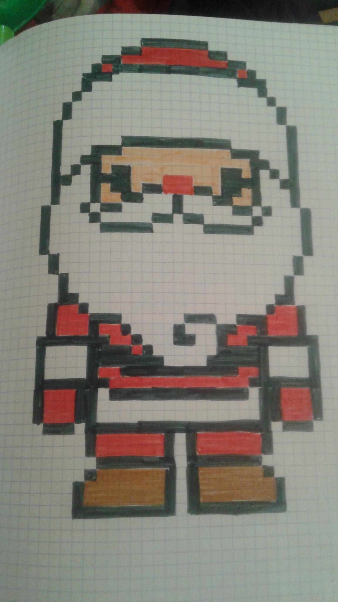 Pixel Art - Page 23 destiné Pixel Art Pere Noel