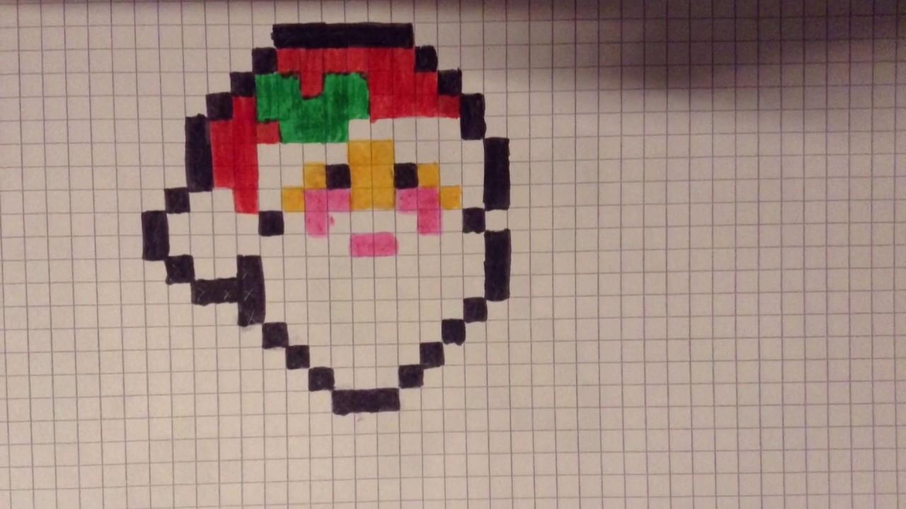 Pixel Art Père-Noël {Spécial Noël} - avec Pixel Art De Noël